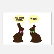 My butt hurts Chocolate bunnies Postcards (Package