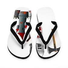 Of Knights in Shining Armor Flip Flops