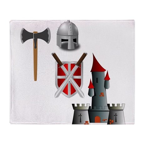 Of Knights in Shining Armor Throw Blanket