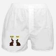 My butt hurts Chocolate bunnies Boxer Shorts