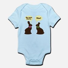 My butt hurts Chocolate bunnies Infant Bodysuit