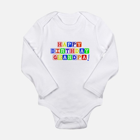 Happy Birthday Grandpa Body Suit