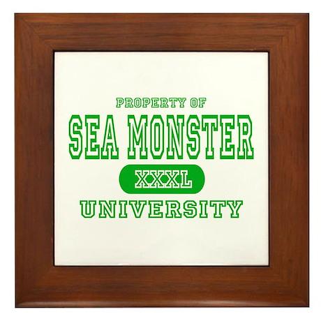 Sea Monster University Framed Tile