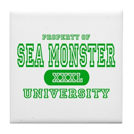 Sea Monster University Tile Coaster