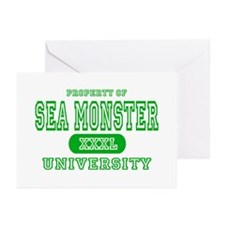 Sea Monster University Greeting Cards (Package of