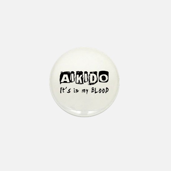 Aikido Martial Arts Mini Button