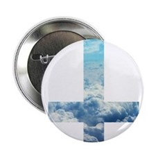 """Cloudy Cross 2.25"""" Button"""