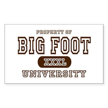Big Foot University Rectangle Sticker