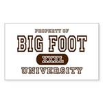 Big Foot University Rectangle Sticker