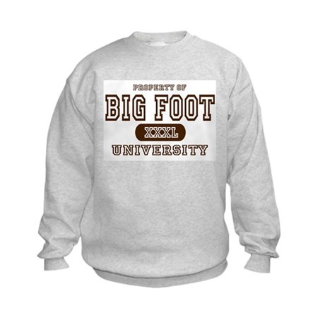 Big Foot University Kids Sweatshirt