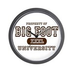 Big Foot University Wall Clock