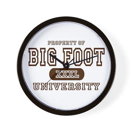 Big Foot University Wall Clock