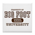 Big Foot University Tile Coaster