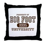 Big Foot University Throw Pillow