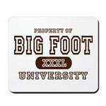 Big Foot University Mousepad