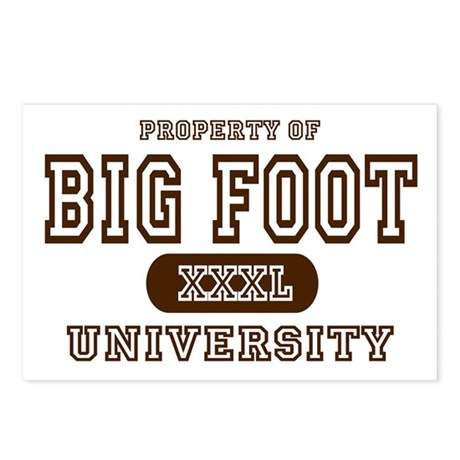 Big Foot University Postcards (Package of 8)