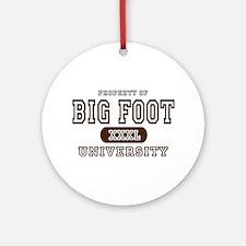 Big Foot University Ornament (Round)