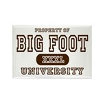 Big Foot University Rectangle Magnet