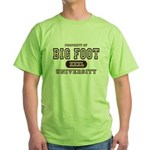 Big Foot University Green T-Shirt