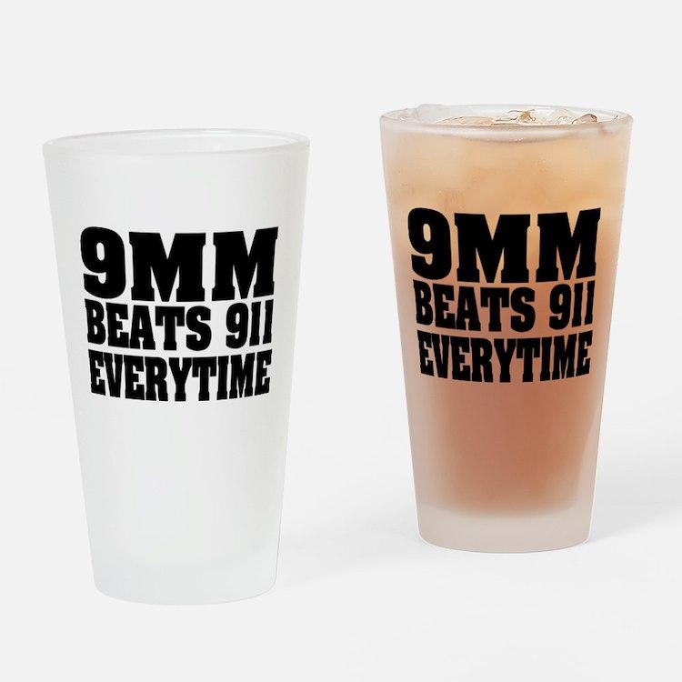 9MM Beats 911 Drinking Glass