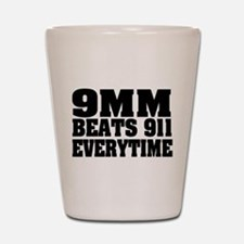 9MM Beats 911 Shot Glass