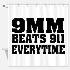 9MM Beats 911 Shower Curtain