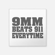 "9MM Beats 911 Square Sticker 3"" x 3"""