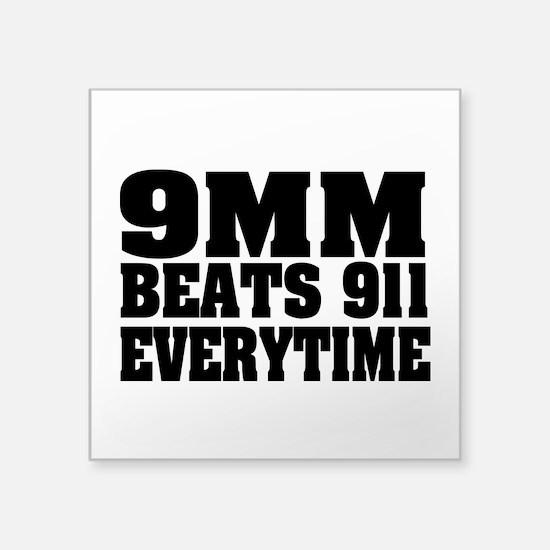 "9MM Beats 911 Square Sticker 3"" x 3"""