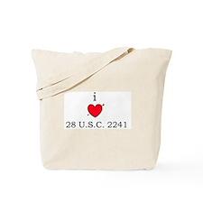 I [heart] 28 U.S.C. 2241 Tote Bag