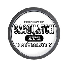 Sasquatch University Wall Clock