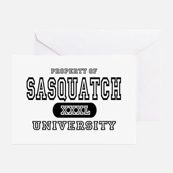 Sasquatch University Greeting Cards (Pk of 10)