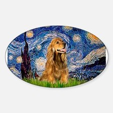 Starry Night/Cocker(#7) Rectangle Decal