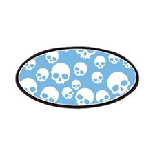 Light Blue Random Skull Pattern Patches