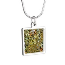 St. Augustine of Hippo Silver Square Necklace