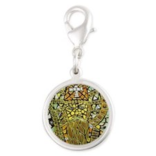 St. Augustine of Hippo Silver Round Charm