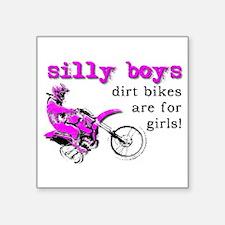 Dirt Bikes Are For Girls Motocross Bike Funny Stic