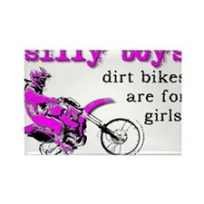 Dirt Bikes Are For Girls Motocross Bike Funny Rect