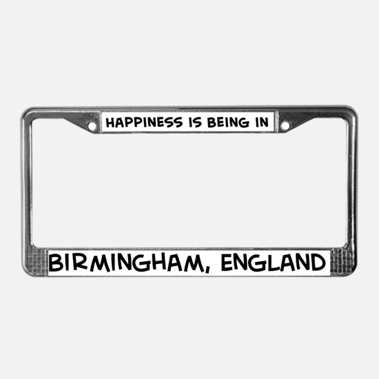 Happiness is Birmingham License Plate Frame