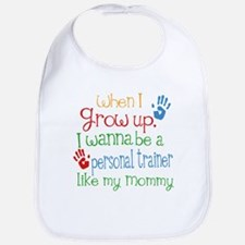 Personal Trainer Like Mommy Baby Bib
