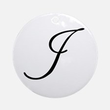 Champagne Monogram I Ornament (Round)