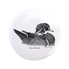 "Wood Duck 3.5"" Button (100 pack)"