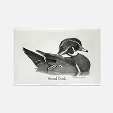 Wood Duck Rectangle Magnet (10 pack)