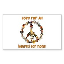 Dogs Of Peace Rectangle Decal