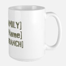 PERSONALIZED Military Family [vintage] Large Mug