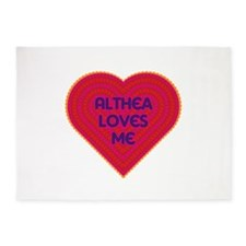 Althea Loves Me 5'x7'Area Rug