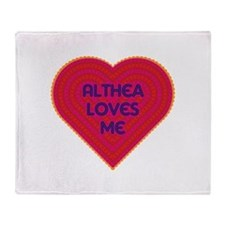 Althea Loves Me Throw Blanket