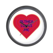 Althea Loves Me Wall Clock
