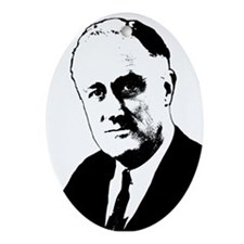 FDR Oval Ornament