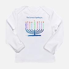 Chanukah Spelling Long Sleeve Infant T-Shirt