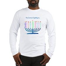 Chanukah Spelling Long Sleeve T-Shirt